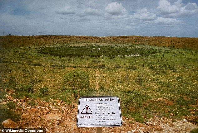 The Or Banda crater is, however, five times larger than Australia's famous Wolfe Creek Crater located more north in the state. Wolfe Creek was formed by a meteorite which is estimated to have crashed into earth 300,000 years ago