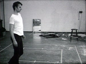 The only thing that was allowed … Nauman's early film Walking in an Exaggerated Manner Around the Perimeter of a Square.