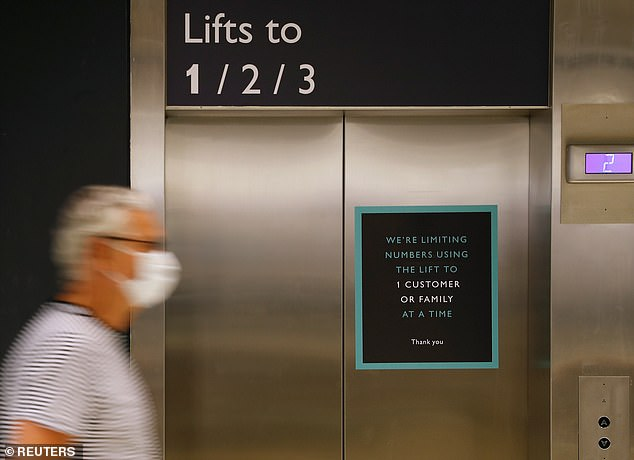 Experts from the University of Amsterdam mimicked a series of coughs inside a hospital lift to determine how long they lasted under different conditions. Stock image