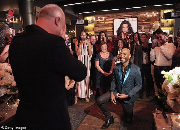 He said yes! Ian was beside himself as Karamo asked for his hand in marriage during a surprise birthday party
