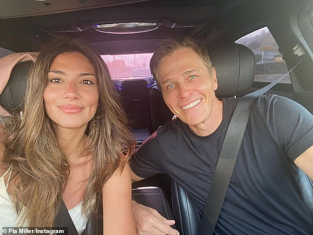 Together again! The photo shoot comes after Pia was reunited with her multi-millionaire agent boyfriend Patrick Whitesell