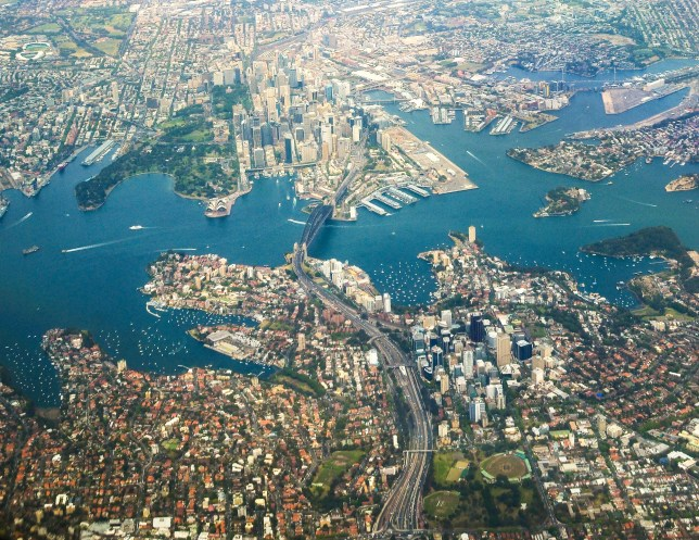 Sydney from high above