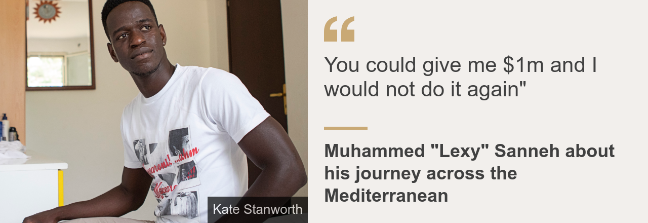 """Quote card. Muhammed Sanneh: """"You could give me one million dollars and I would not do it again"""""""