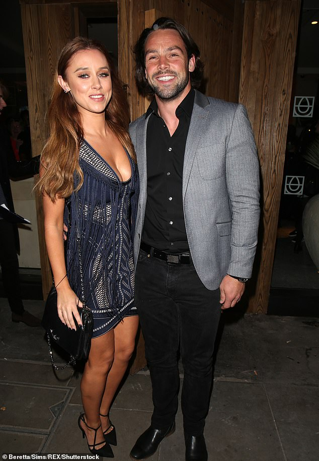 'Divorce is a tough old thing to go through': The former Saturdays singer, 38, who split from the rugby star, 35, in 2018 (pictured in 2017),after he cheated on her with publicist Becky Milne