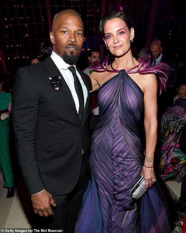 Previous: Katie most recenetly was linked to Jamie Foxx from 2013 until late last year, and was married to Tom Cruise from 2007 until 2012, they share daughter Suri (Foxx and Holmes in May 2019)