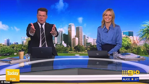 Once held victory: Rubbing salt into the wound was the fact that Sunrise recorded the highest numbers in each capital city, including Brisbane, where Today previously held a victory. Karl is pictured with co-host Allison Langdon