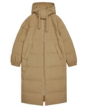 Beige puffer coat, £225, Arket.