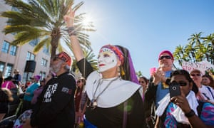 Sister Ida of the San Diego Sisters of Perpetual Indulgence attends San Diego's Women's March in 2019. There are hundreds of Sisters in different orders across four continents.