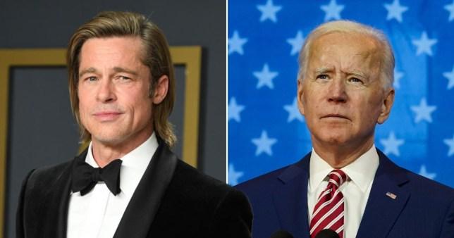 Brad Pitt gets political as he backs Joe Biden