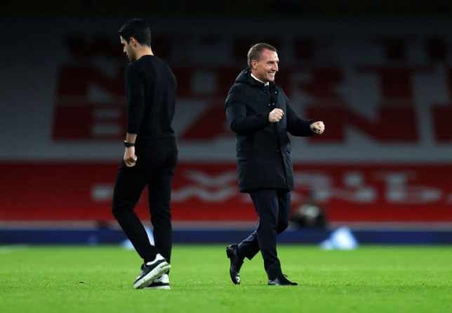 Rodgers came away the happier manager at the Emirates