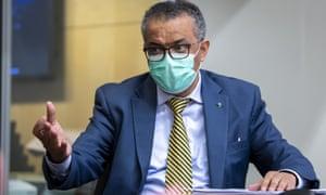 Tedros Adhanom Ghebreyesus, Director General of the World Health Organization.