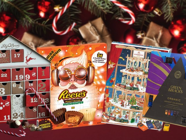 a selection of chocolate advent calendars