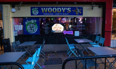 Woody's Bar in Sheffield town centre on Friday night, the night before it was due to enter Tier 3 restrictions.