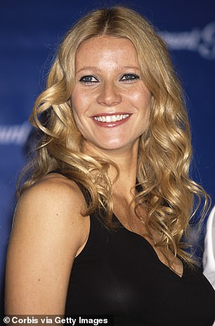 So youthful: Seen as a young actress in a black top with curls from 2004