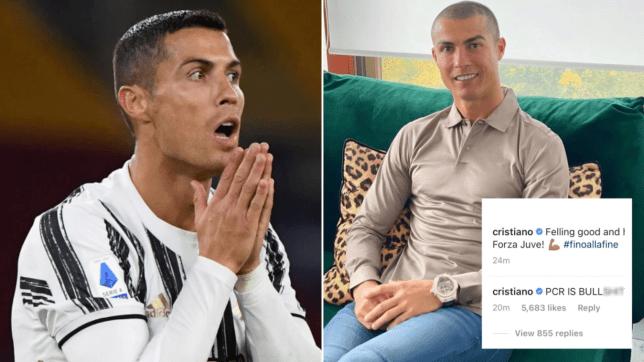 Juventus star Cristiano Ronaldo slams 'bullsh*t' coronavirus test result as he misses Barcelona clash