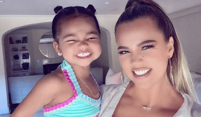 Khloe Kardashian pictured with daughter True Thompson