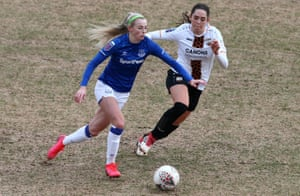 Chloe Kelly playing for Everton against London Bees in the fourth round of the FA Cup in January.