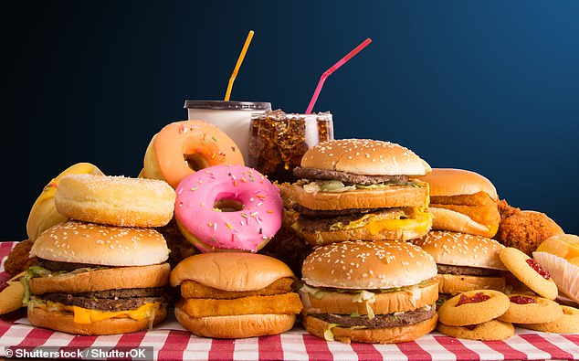 The 'hunter-gather instincts' that helped our ancestors avoid starvation by seeking out high-calorie foods make us better at recalling where junk food is, a study found (stock image)
