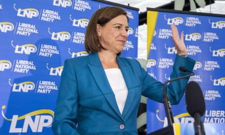 LNP leader Deb Frecklington concedes defeat on Saturday night
