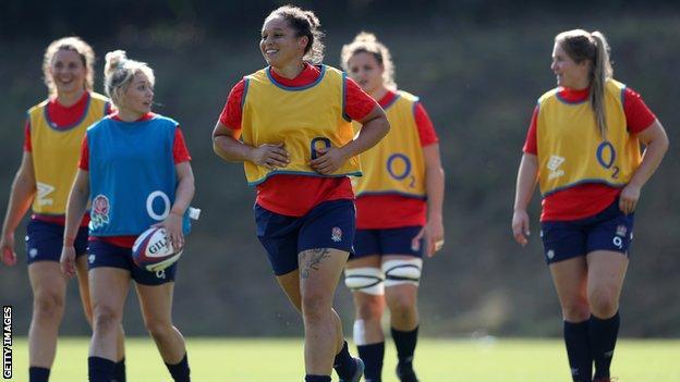 Shaunagh Brown in England training