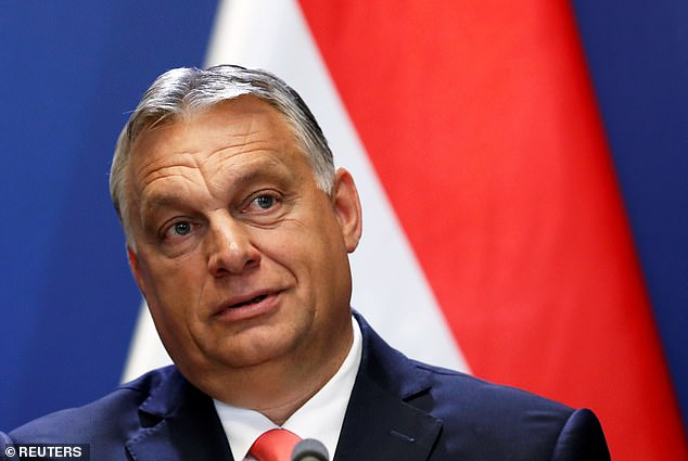 Hungary's Prime Minister Viktor Orban holds a news conference in Budapest earlier this year