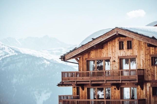 La Rosière resort in the alps