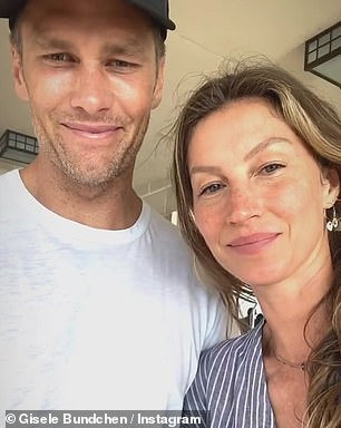 Her sweetie:The model with husband Tom Brady this year