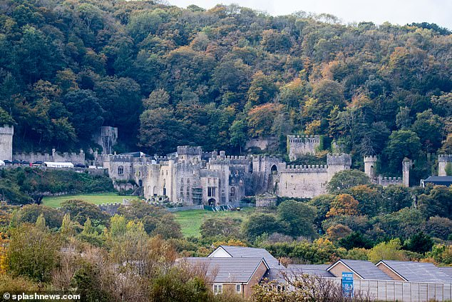 New home: This year's series will be hosted atGwyrch Castle in Wales after the coronavirus pandemic made it impossible to stage the popular show in Australia