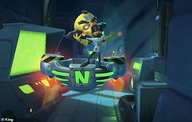 Dr. Neo Cortex (pictured here in the new game) originally created Crash Bandicoot in the lab, and after nearly 25 years still wants him dead