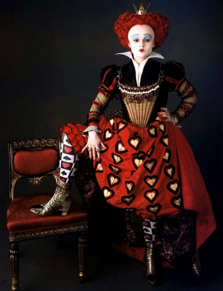 As the Red Queen in Tim Burton's Alice In Wonderland.
