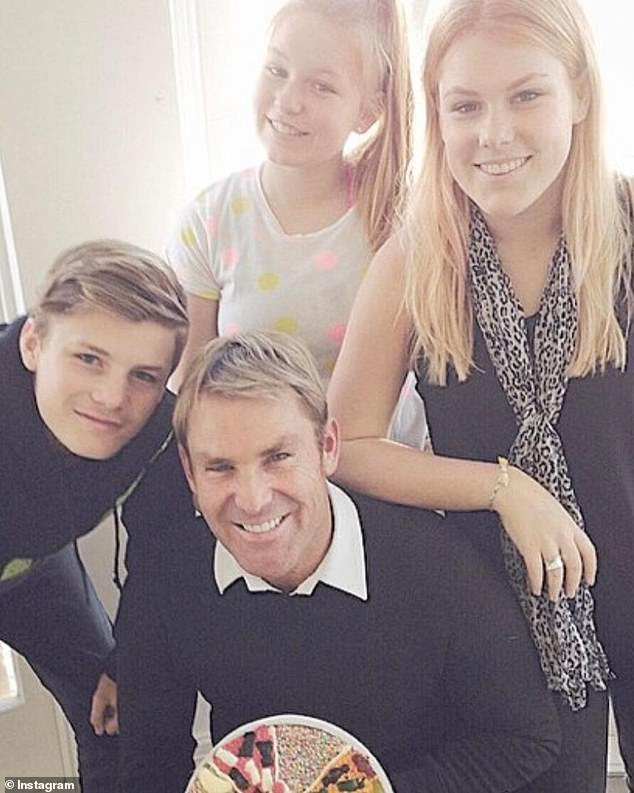 'We were always in the spotlight':Jackson also gave fans an insight into his childhood and said he feels lucky to be born into such a privileged life - but, like with everything, it has its pros and cons. Jackson is pictured with his father and his sisters, Summer (centre) and Brooke (right)