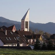 St Georgchurch tower inBleibach, Black Forest by Architektur3