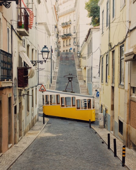 Ascensor da Bica, Lisbon's 19th-century funicular railway.