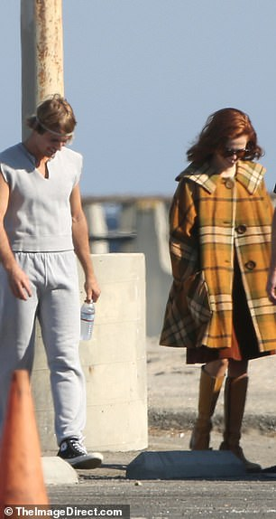Beach walk:The singer was also spotted walking along with beach with the co-star for the video shoot, though it is unclear what song the video is for