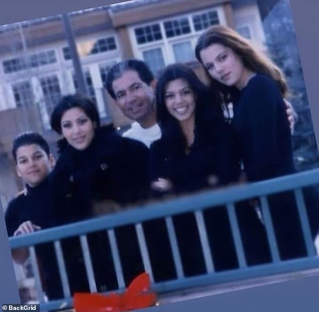 Moving:Kanye's gift clearly moved the entirety of the Kardashian family, who have not witnessed their father in such a 'lifelike' form in over 17 years; Rob, Kim, Robert, Kourtney, and Khloe pictured