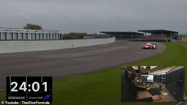 The Acronis SIT Autonomous, operated by a Swiss team, was gearing up for the race when the AI hit the accelerator and made an unexpected turn to the right – hitting the pit-lane barrier
