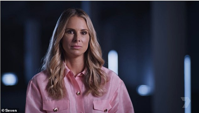 She was slightly more open during an on-camera interview prior to the interrogation, saying of the toilet tryst: 'In my early 20s I made a very big mistake. It is something I am not proud of but something I can never take back'