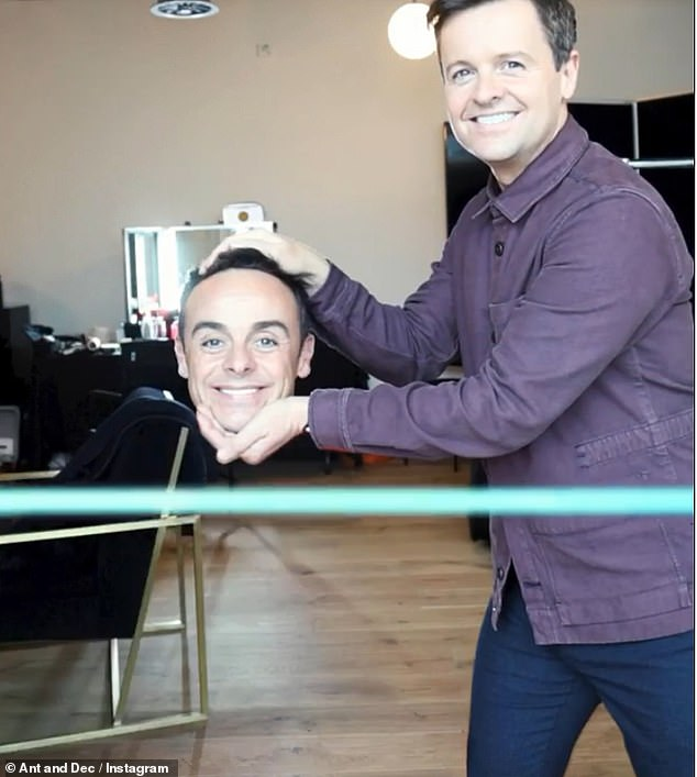 Missing body:Ant's body then vanished and Dec was left just holding his head before he grabbed a fizzy drink and took off