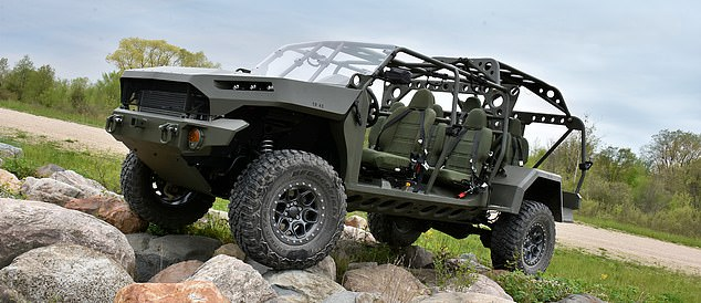 GM Defense handed the keys to Army officials in a ceremony Tuesday, just four months after winning the contract. 'One hundred and twenty days from contract award to delivery is a significant milestone,' said David Albritton, president of GM Defense