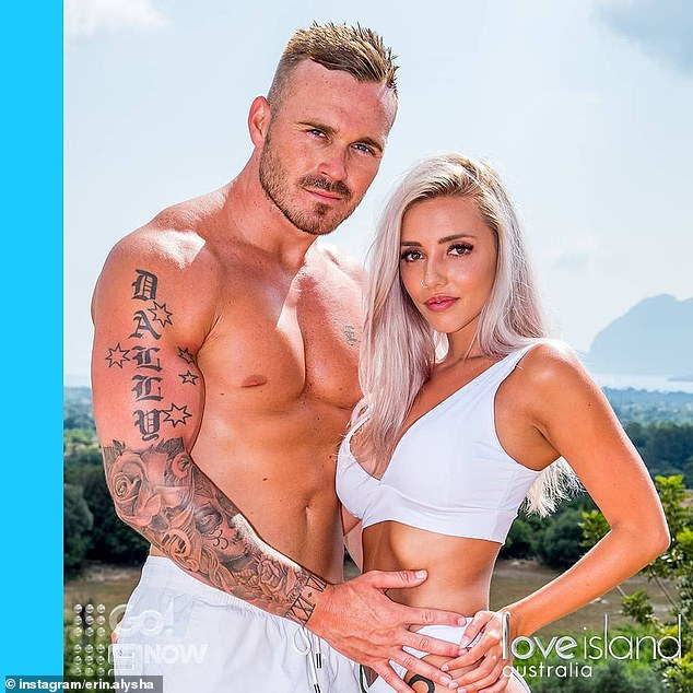 'It's different': Eden appeared on dating series Love Island in 2018 and, like some of his SAS co-stars, had a presumption of what would happen 'behind the scenes'. Pictured withErin Barnett