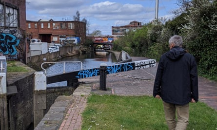 Sue Beardsmore and her husband Steven Pile (pictured) have been discovering Birmingham's canals