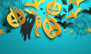 Origami Halloween decorations