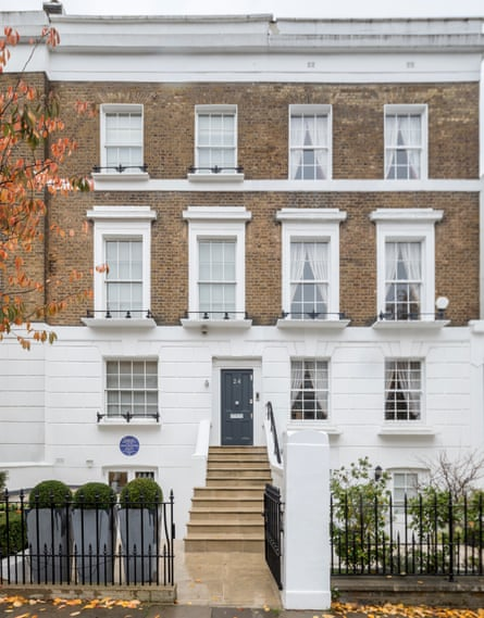 The blue plaque to Barbara Hepworth and John Skeaping at 24 St Ann's Terrace in St John's Wood, London.