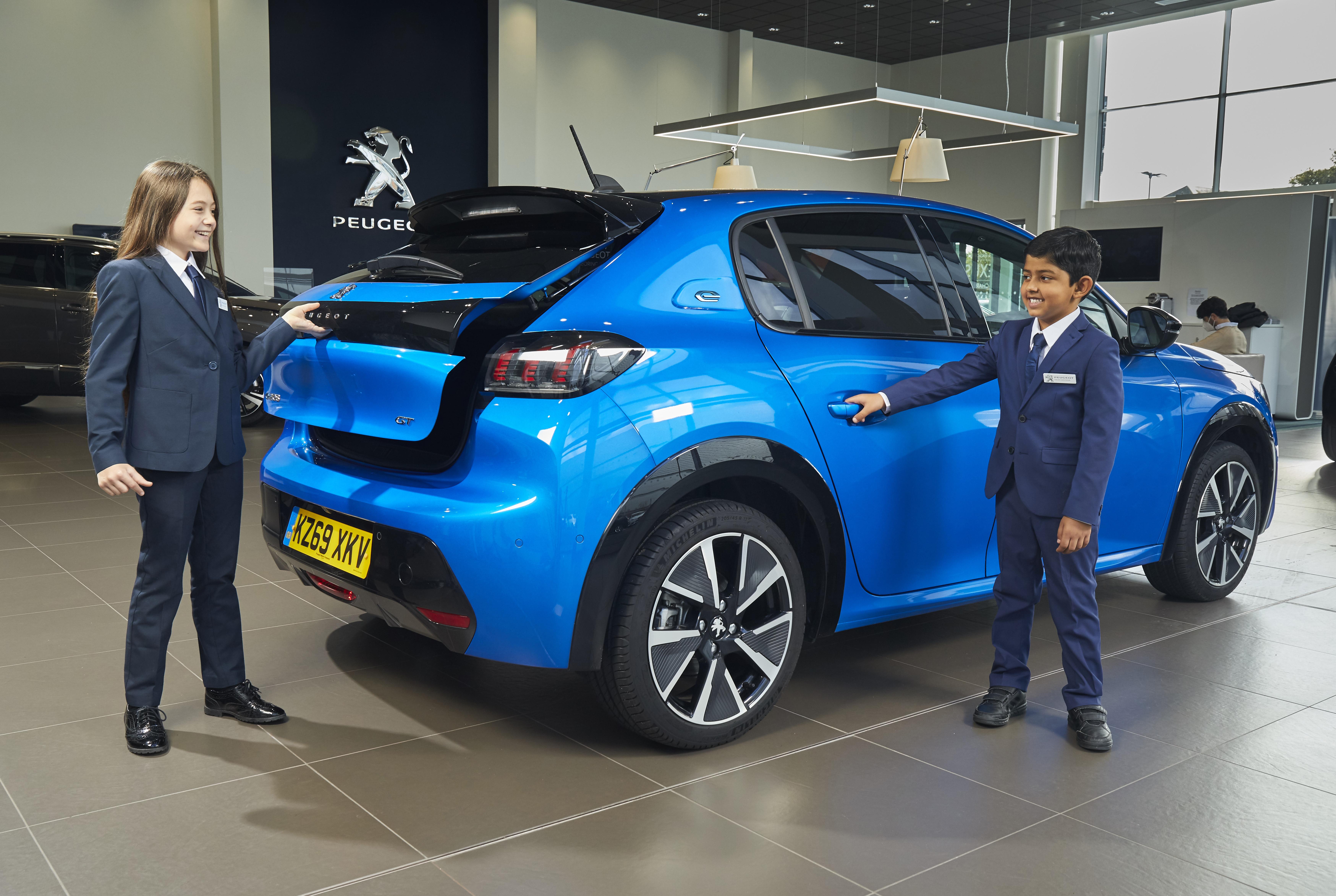 Children helping car buying process