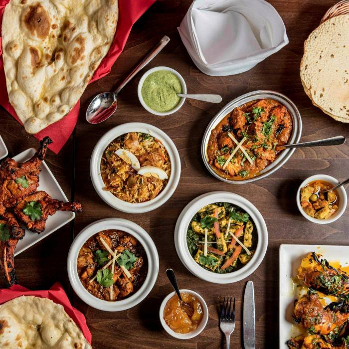 A selection of dishes at the reassuringly familiar Haandi...