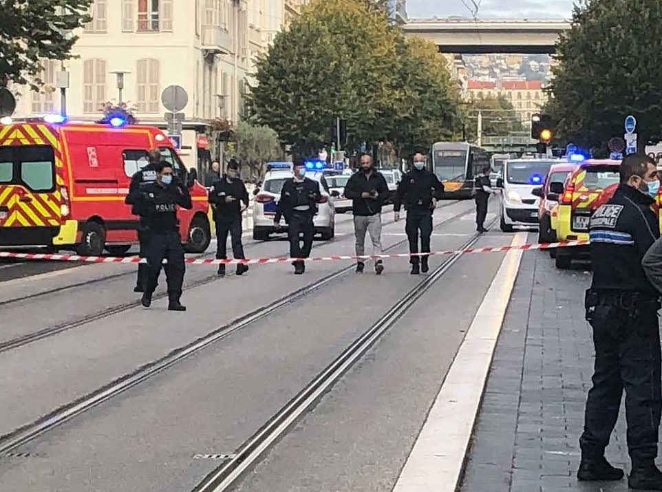 The attack is thought to have begun around 9am before police were called, and arrested the perpetrator. The area is now cordoned off
