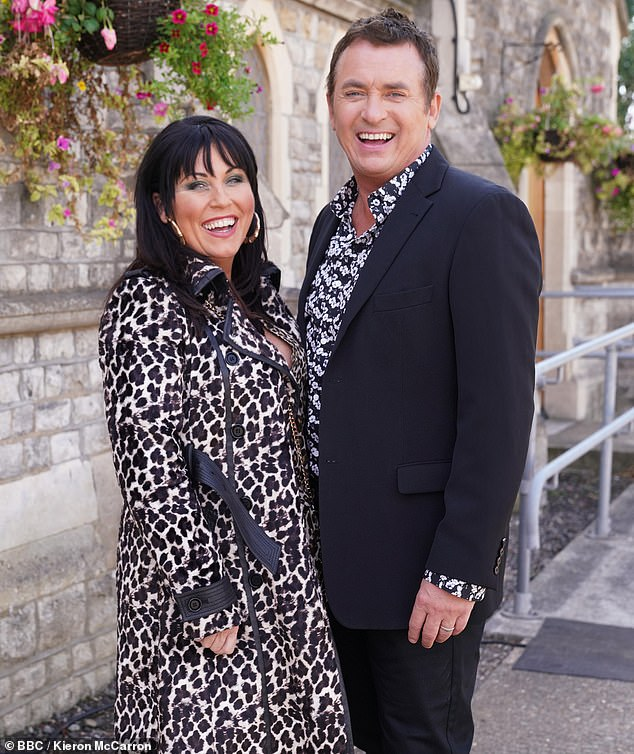 Famous face:Shane is best known for his role as Alfie Moon on the BBC soap where he starred alongside Jessie Wallace, who played his wife Kat Slater (pictured in 2018)