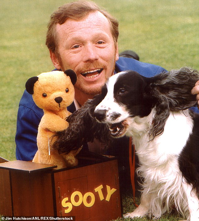 On leaving hospital, Matthew (pictured with Sooty) was overjoyed to be reunited with Sallie, who had not been allowed to visit him because of Covid rules