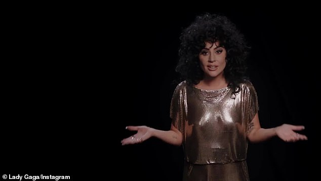 It's up to you:For those struggling to find the will to get to the polls, Gaga was ready with a list reasons to encourage them to cast a ballot telling viewers that 'anyone can find a reason to vote'