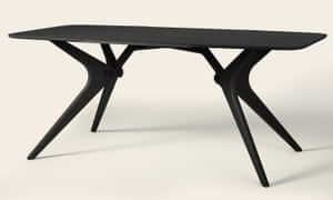 The Kiko birch plywood dining table in black oil finish by Fuzl Design